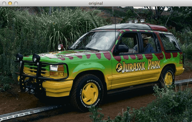 Figure 2: Loading and Displaying the Jurassic Park tour jeep.