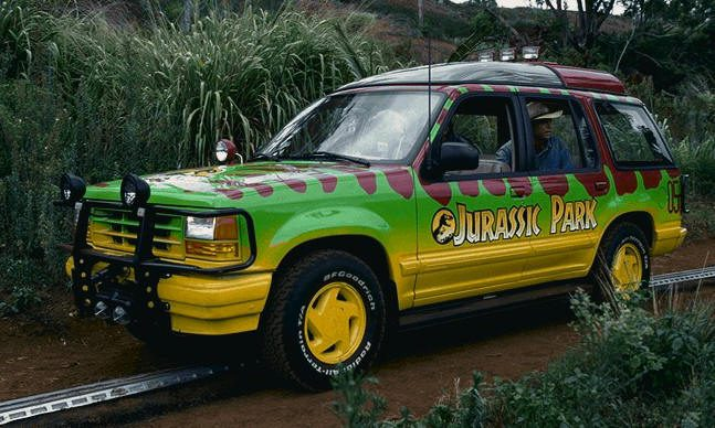 Figure 1: Our example image -- a Jurassic Park Tour Jeep.