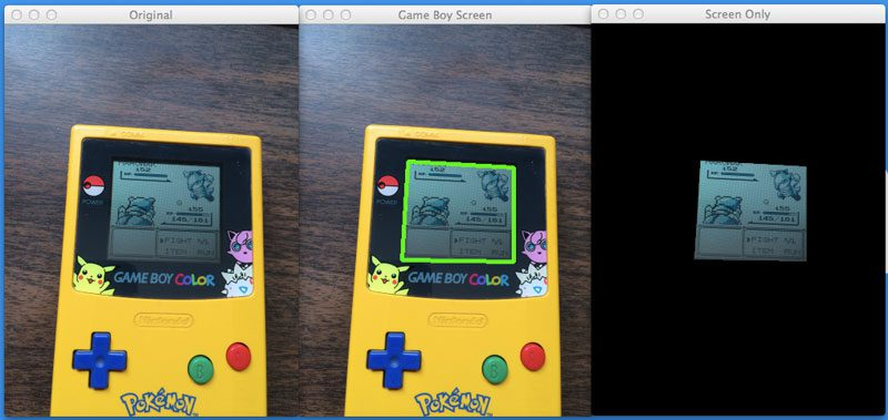 Finding a Game Boy screen in an image using Python and OpenCV.