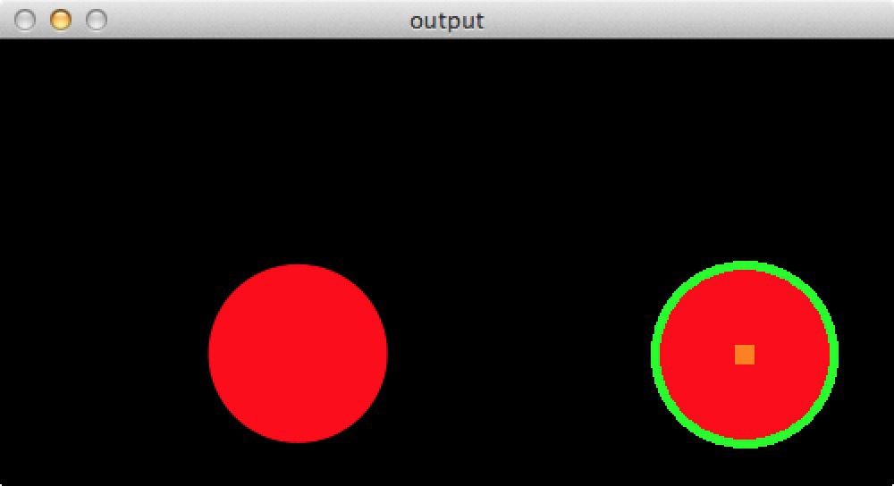 Figure 1: Detecting a simple circle in an image using OpenCV.