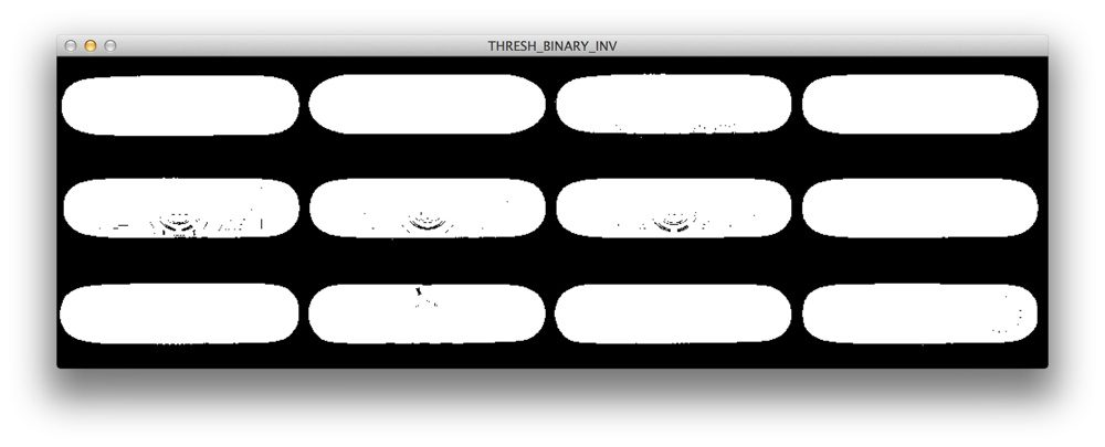 Figure 2: Applying cv2.threshold with cv2.THRESH_BINARY_INV.