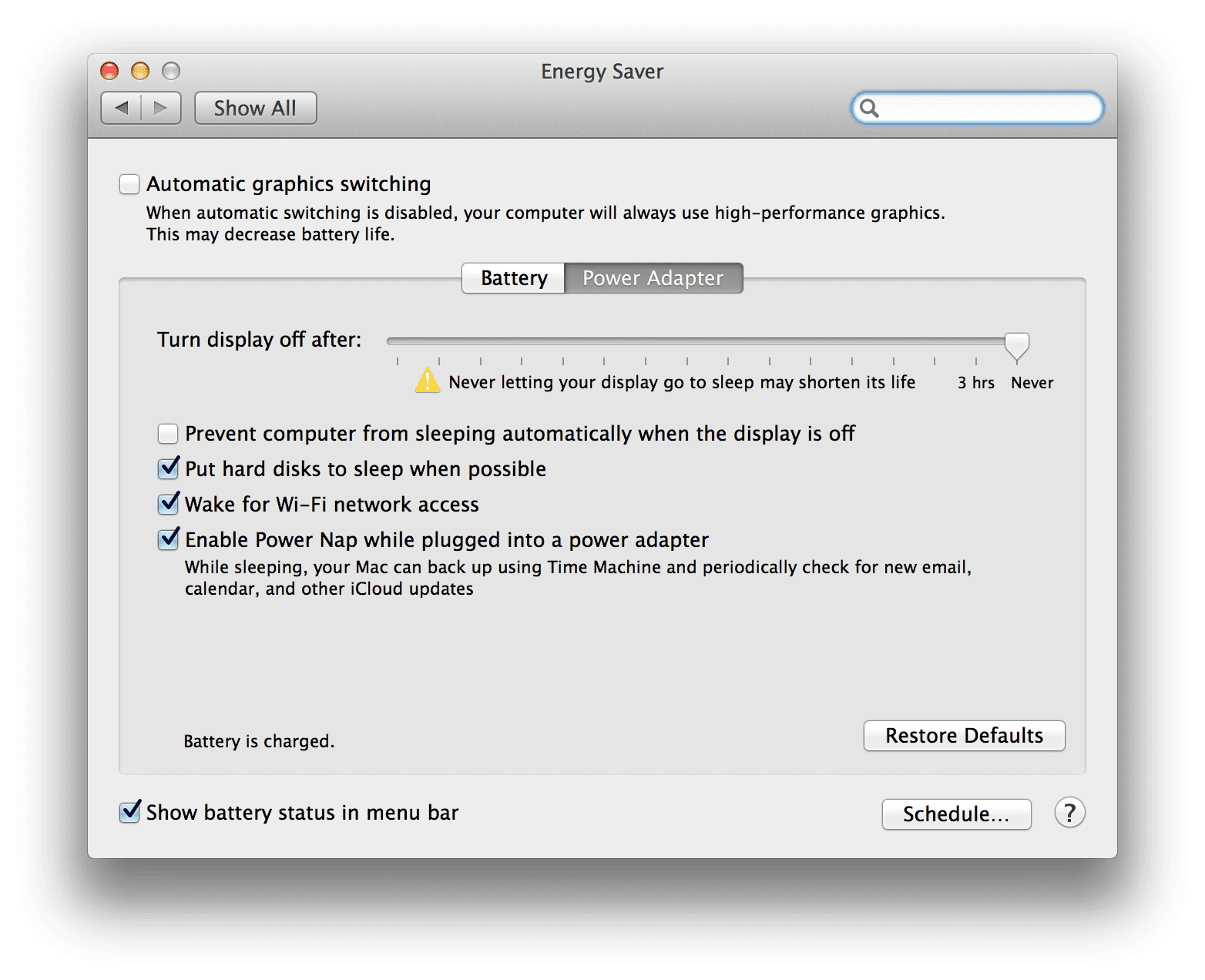 Adjusting System Preferences to use the CUDA Driver