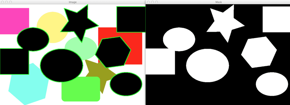 Figure 2: We have successfully found the black shapes in the image.