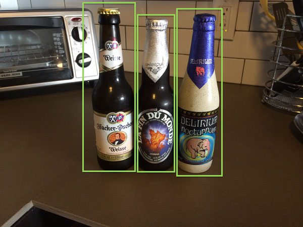 Detecting beer in images using Histogram of Oriented Gradients