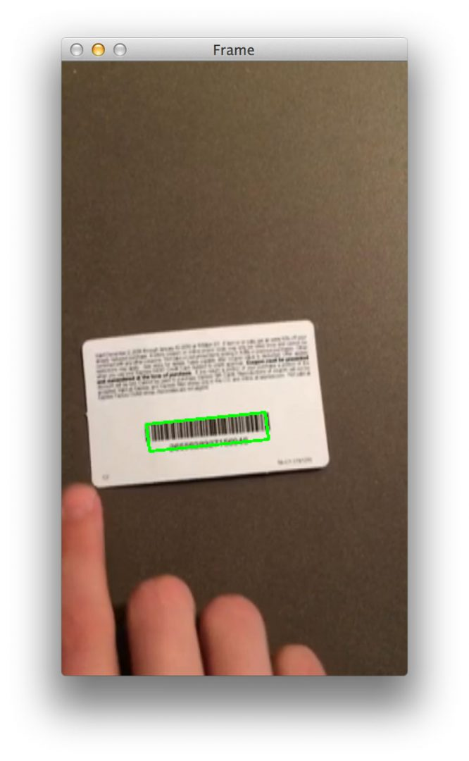 Figure 3: Another successful barcode detection using Python and OpenCV.