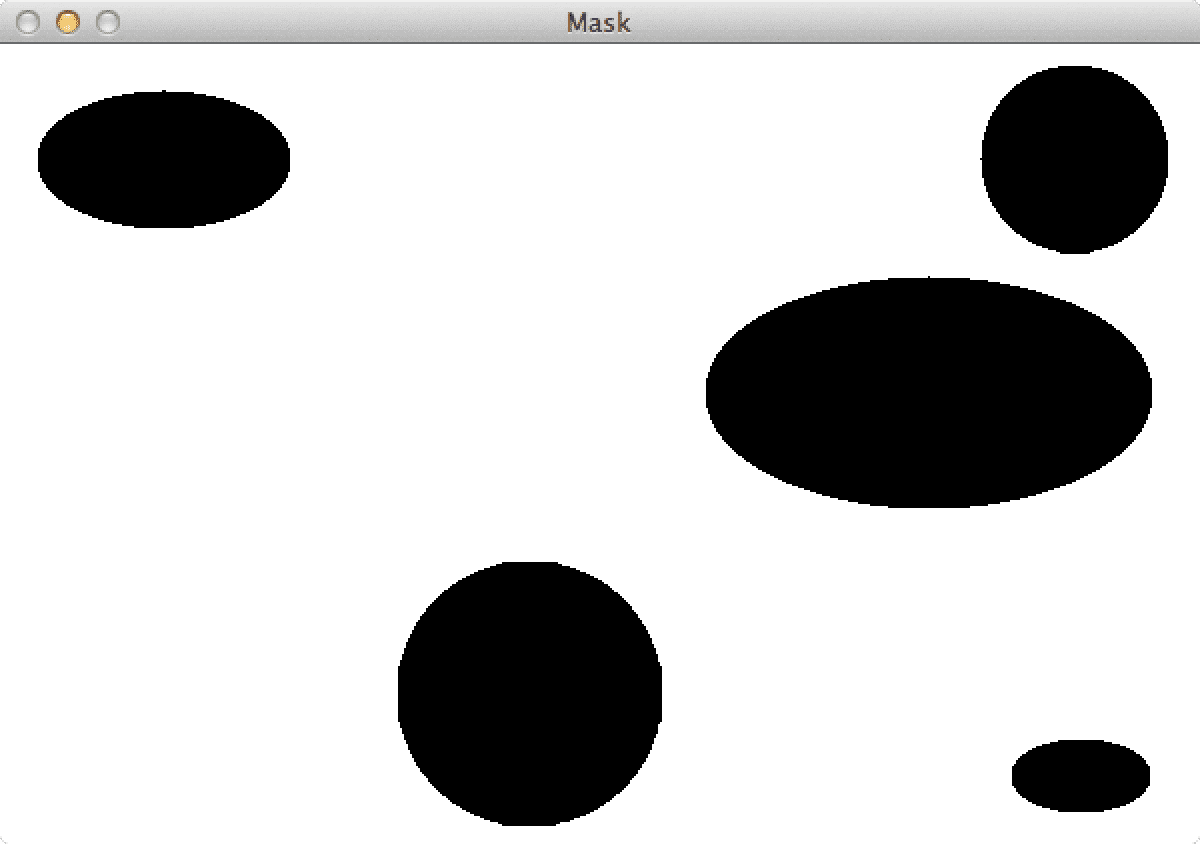 Figure 2: Our accumulated mask of contours to be removed. Shapes to be removed appear as black whereas the regions of the image to be retained are white.