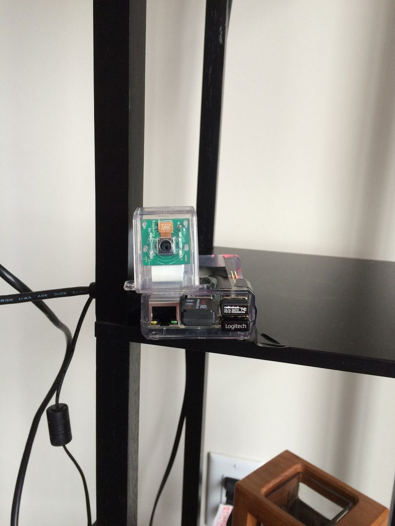 Figure 3: Example setup of my Raspberry Pi 2 and camera.