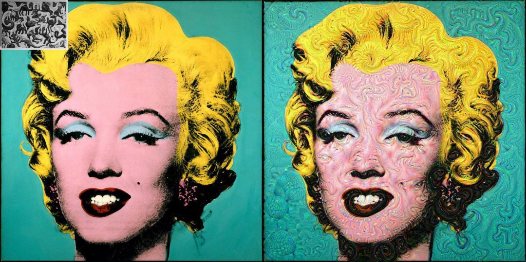 Figure 2: Andy Warhol's Marilyn Monroe guided using MC Escher's Mosaic II.