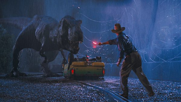 Figure 1: The iconic input image of Dr. Grant and the T-Rex from Jurassic Park.