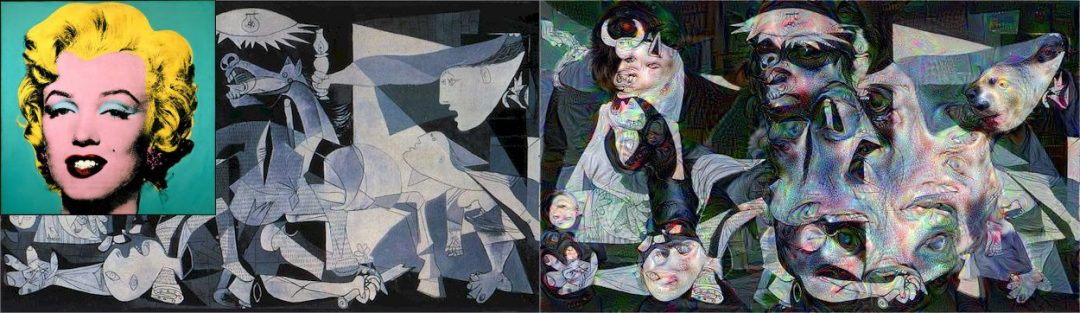 Figure X: Pablo Picasso Guernica's guided with Andy Warhol's Marilyn Monroe.