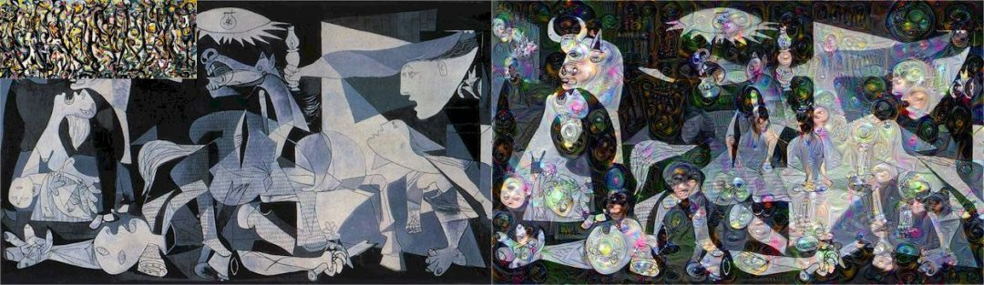 Figure X: Pablo Picasso – Guernica's guided with Jackson Pollock's Energy Made Visible.