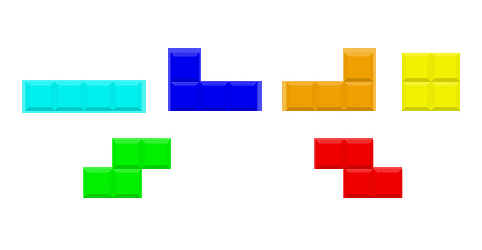 Figure 1: We are going to utilize OpenCV 2.4.X and OpenCV 3 to detect the contours of the Tetris blocks.