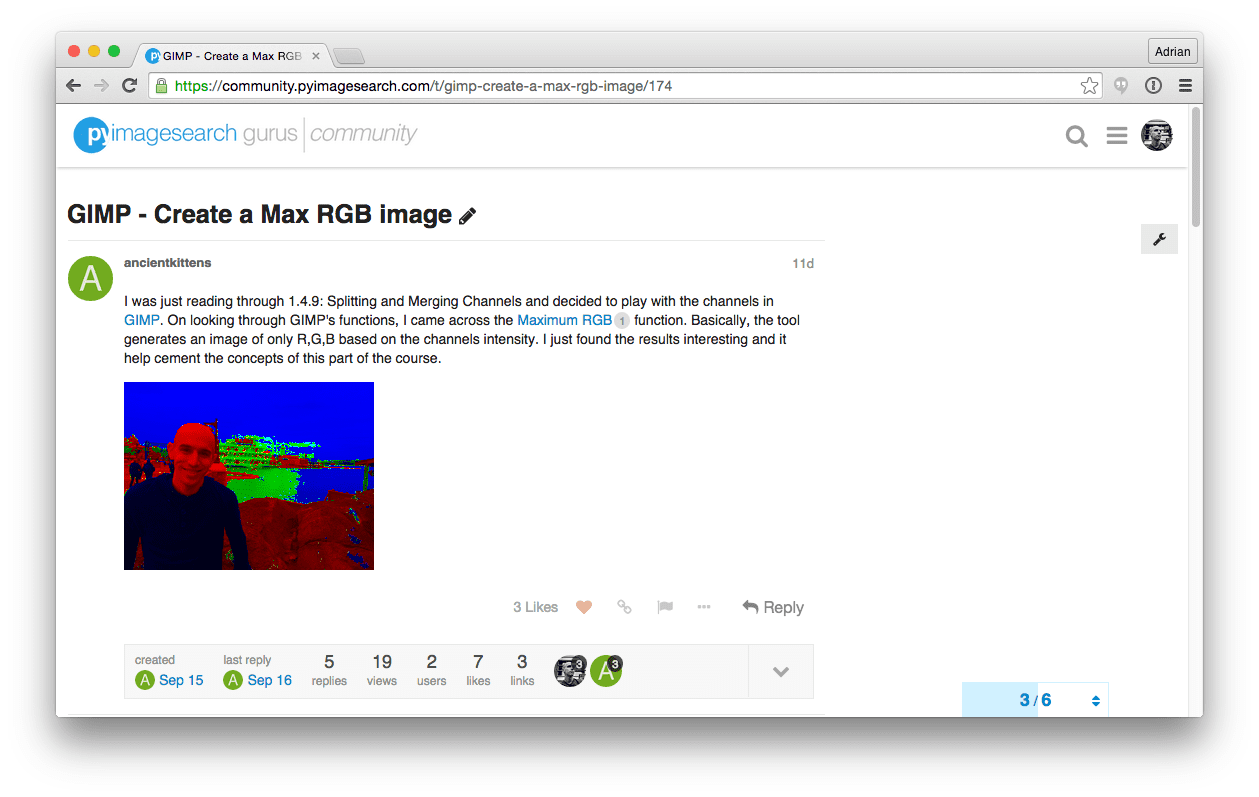 Figure 1: Christian, a member of PyImageSearch Gurus, asked if it was possible to replicate GIMP's Max RGB filter using Python and OpenCV.