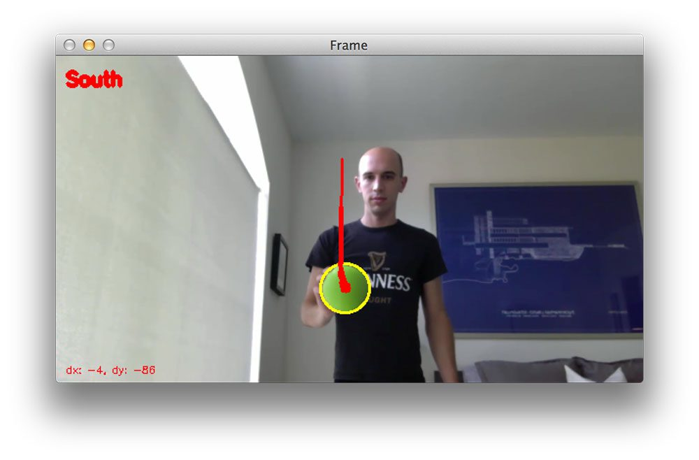Figure 4: Using OpenCV to track object movement