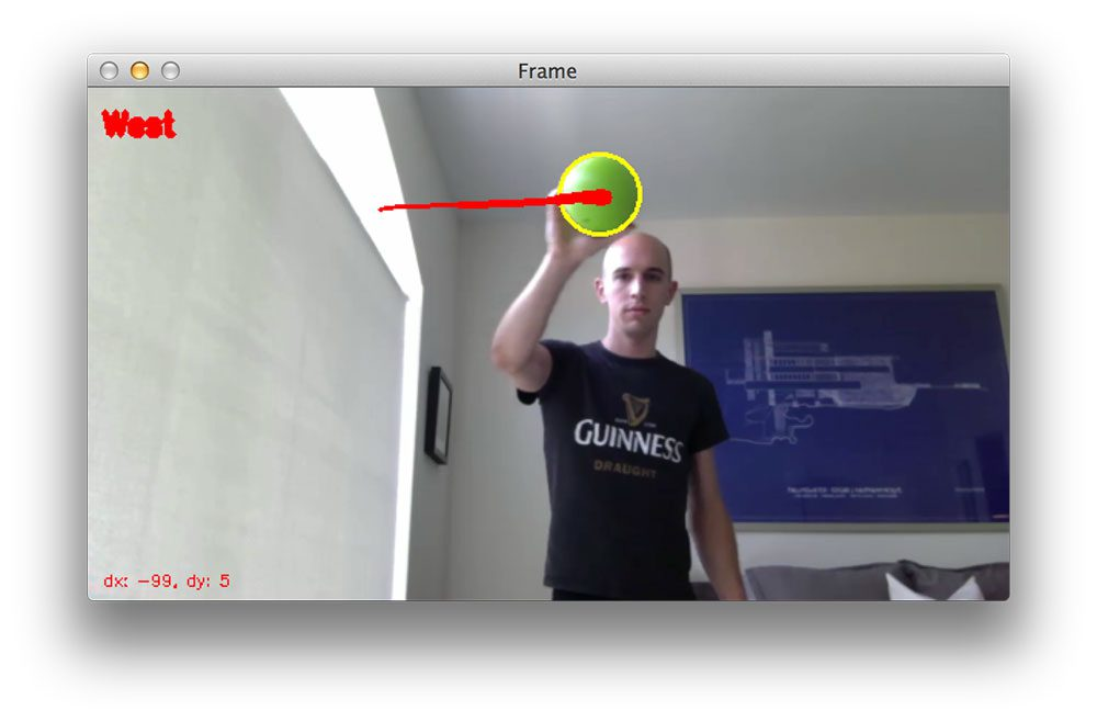 Figure 6: Tracking the object using OpenCV.