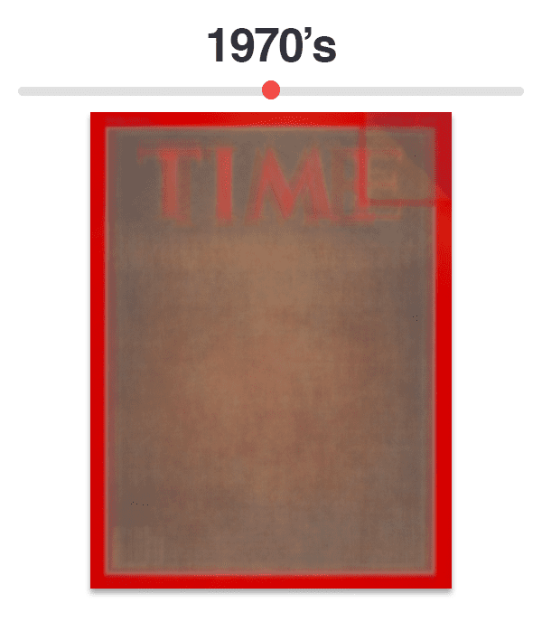 Figure 8: Average of Time magazine covers from 1970-1979.