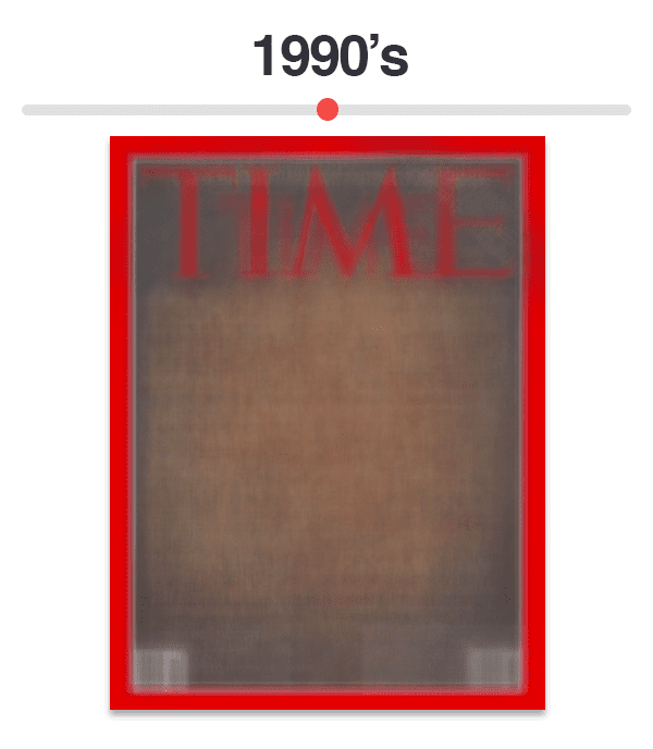Figure 10: Average of Time magazine covers from 1990-1999.