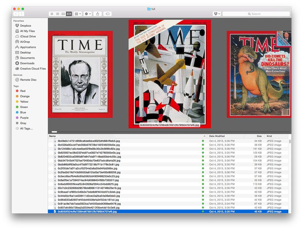 Figure 7: Our dataset of Time magazine cover images.