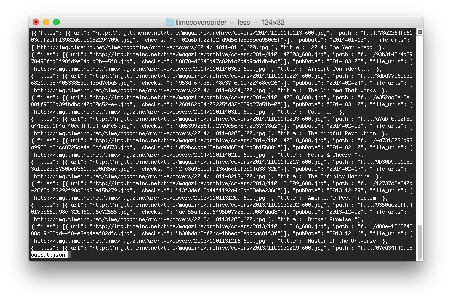 Figure 6: A screenshot of our output.json file.