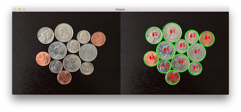 Figure 8: Again, we are able to cleanly segment each of the coins in the image.
