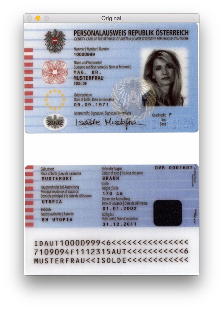 Figure 1: Our original passport image that we are trying to detect the MRZ in.