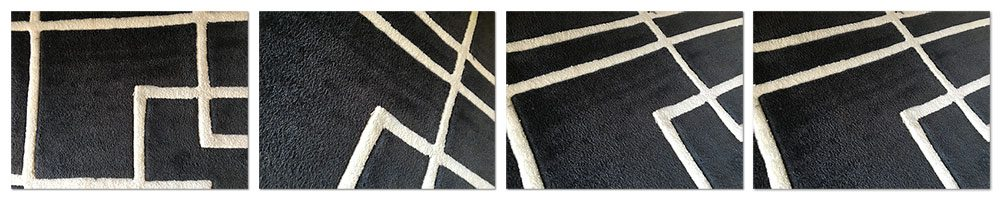 Figure 7: Example images of the area rug texture and pattern.