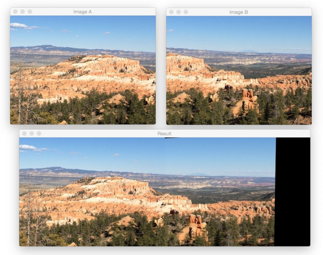 Figure 3: Another successful application of image stitching with OpenCV.