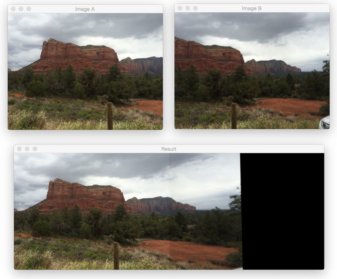 Figure 6: One final example of applying image stitching.