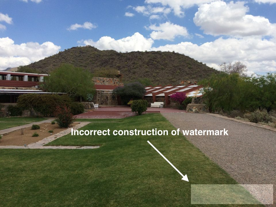 Figure 8: (Incorrectly) creating a watermark with OpenCV.