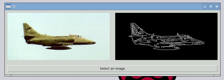 Figure 8: Displaying images in Tkinter using OpenCV.