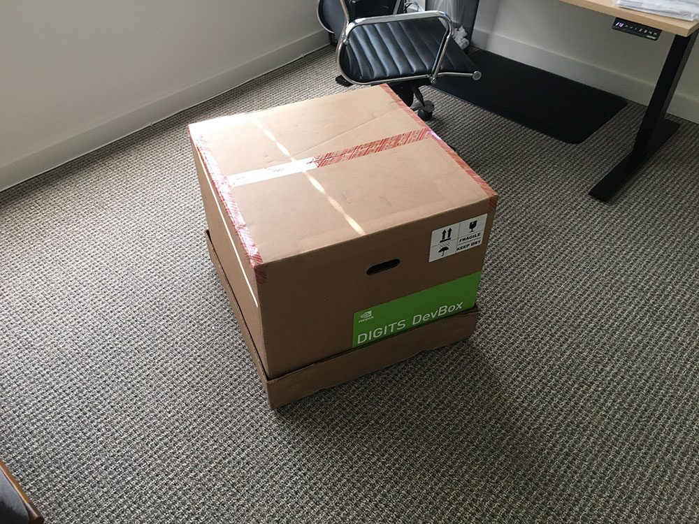 Figure 2: The box the NVIDIA Digits DevBox ships in.