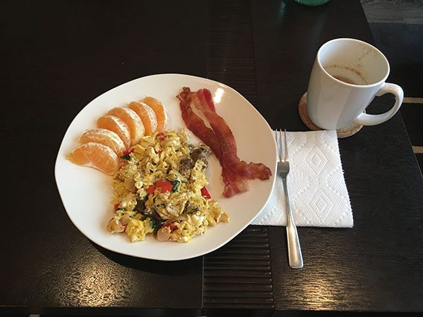 Figure 7: Between 7-7:30AM each morning I have a breakfast heavy in proteins and fats.