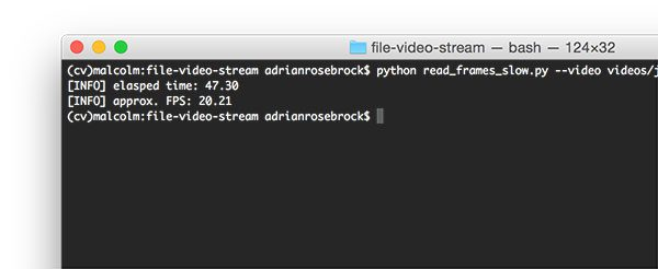 Figure 1: The slow, naive method to read frames from a video file using Python and OpenCV.