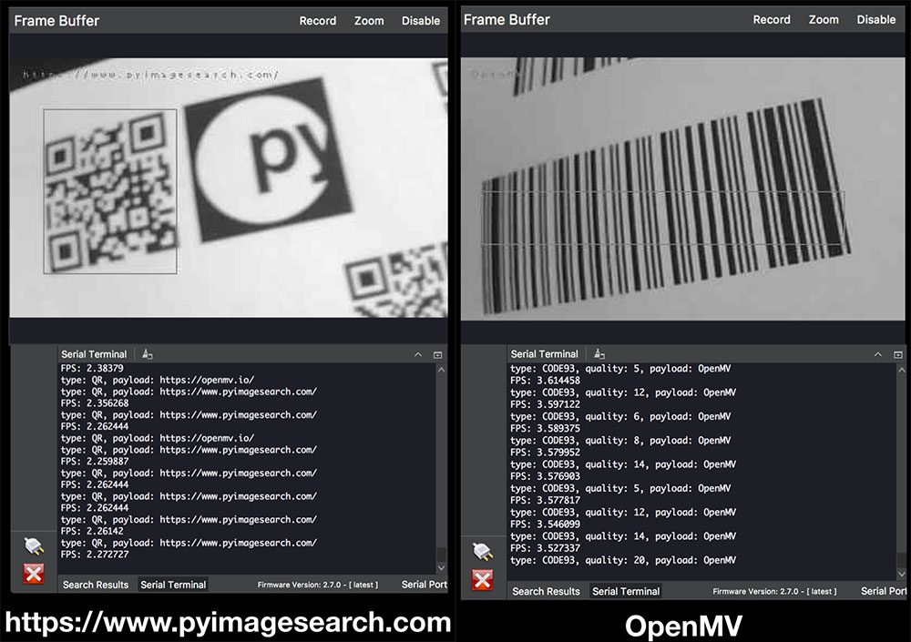 Reading Barcodes With Python And Openmv Pyimagesearch